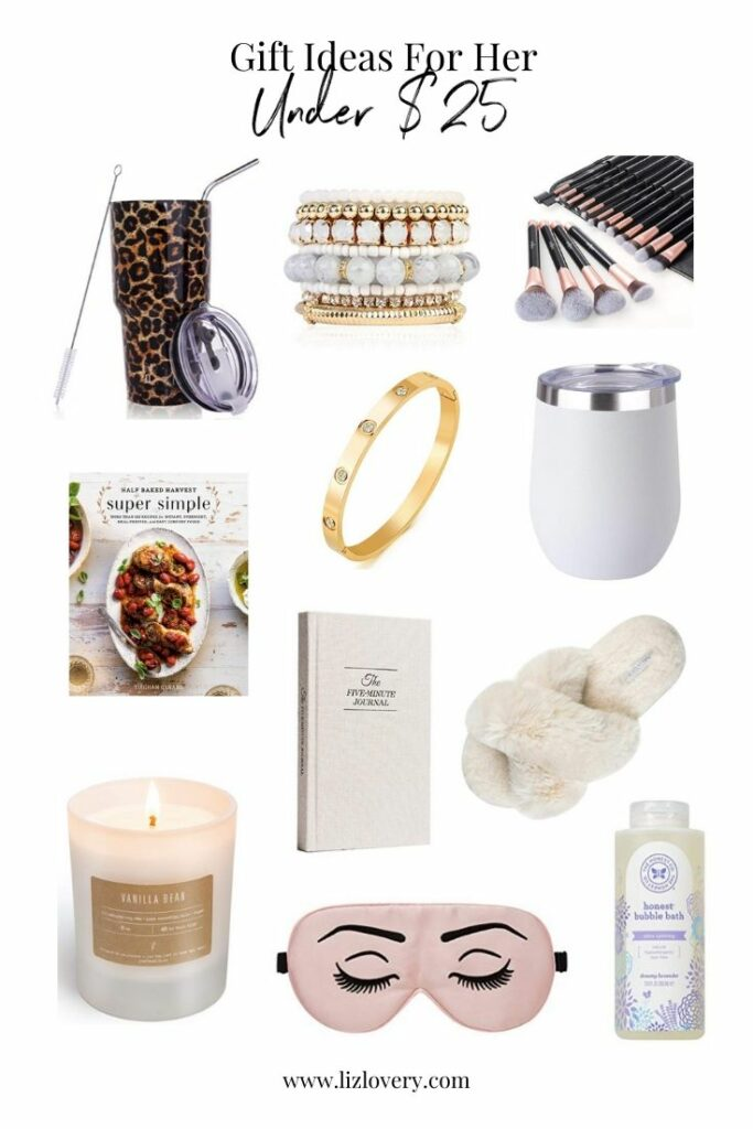Gift guide for her. Gift ideas under $25