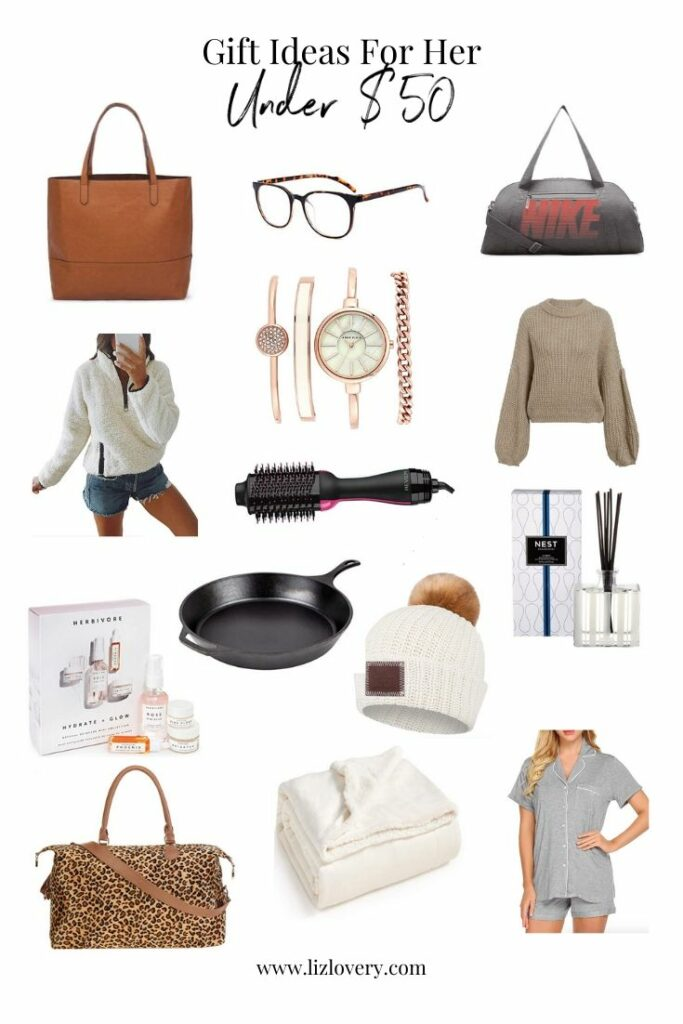 Gift guide for her. Gift ideas under $50