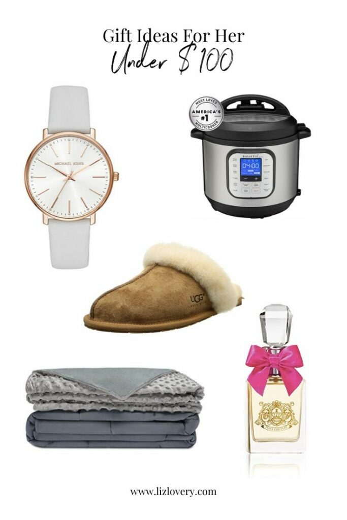 Gift guide for her. Gift ideas under $100