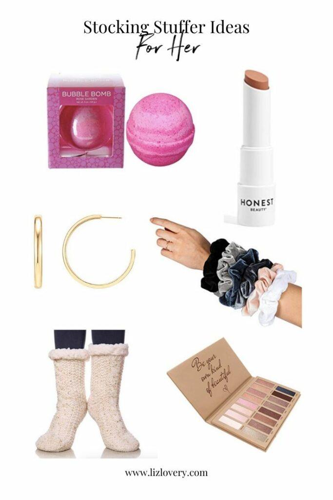 Gift guide for her. Stocking stuffer ideas for her