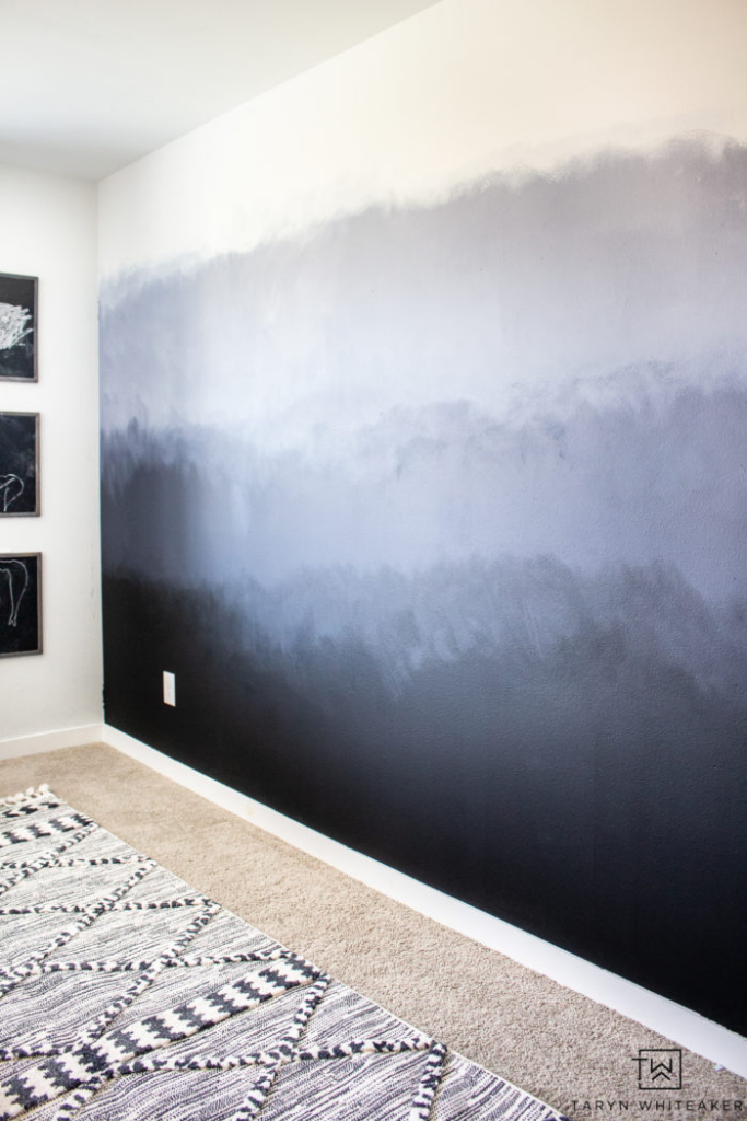 painted ombre wall