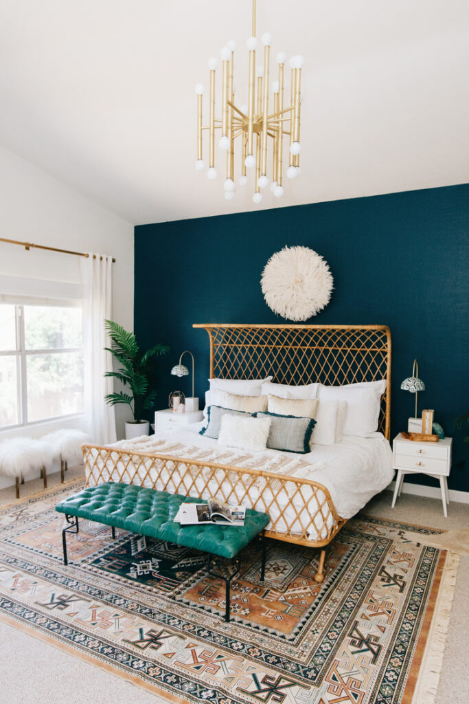 painted accent wall